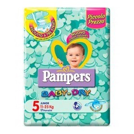 Pampers Baby Dry Junior - Taglia 5 (11-25kg) 17 Pezzi