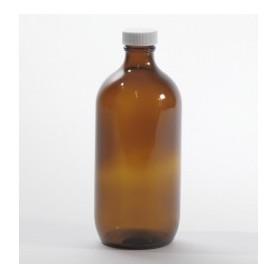 Flacone vetro scuro / ambrato 500ml con tappo sigillo