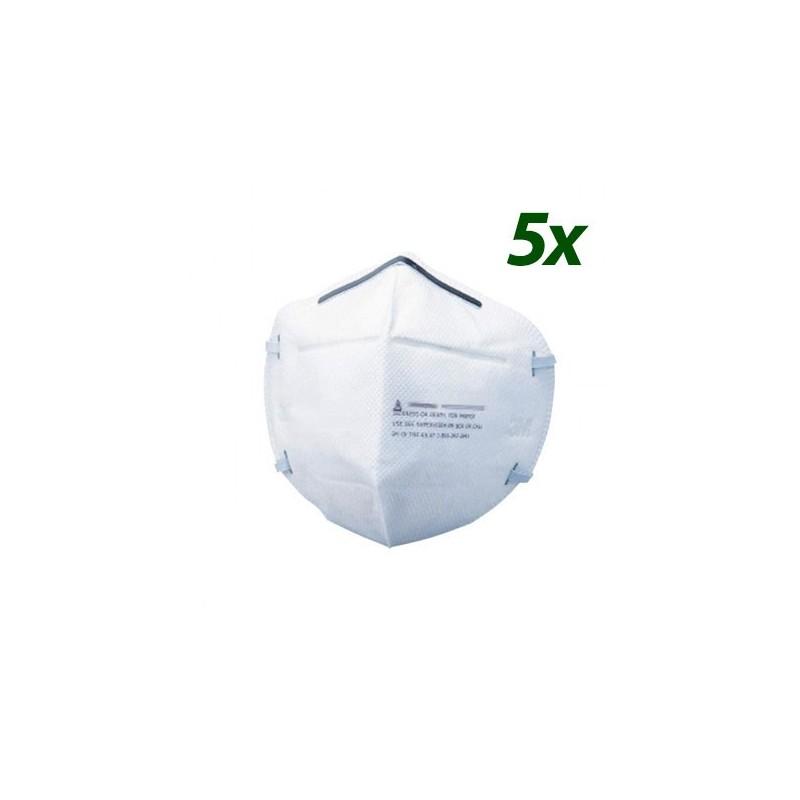 PACK 5x Mascherine facciali FFP2 CE/KN95 senza valvola